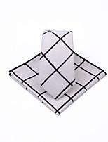 cheap -Unisex Party / Work Necktie - Check Black & White / Black & Gray