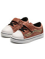 cheap -Girls' Shoes Suede Spring & Summer Comfort Sneakers Walking Shoes Magic Tape for Kids Black / Brown / Pink