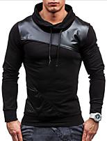 cheap -Men's Basic / Street chic Sweatshirt - Color Block