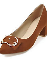 abordables -Femme Chaussures Cuir Nubuck Printemps été Nouveauté / Escarpin Basique Chaussures à Talons Talon Bottier Bout pointu Beige / Marron /