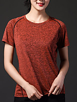 cheap -women's sports t-shirt - solid colored round neck