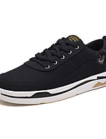 cheap -Men's Canvas Spring / Fall Comfort Sneakers Black / Gray / Red