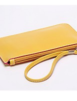 cheap -Women's Bags PU(Polyurethane) Wristlet Zipper Blushing Pink / Yellow