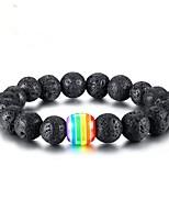 abordables -Homme Bracelet - Mode Bracelet Noir Pour Cadeau / Quotidien