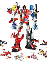 cheap -Building Blocks 506 pcs Helicopter / Robot / Airplane Transformable Gift