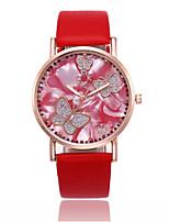 Недорогие -Жен. Наручные часы Китайский Повседневные часы PU Группа На каждый день / Мода Черный / Белый / Красный