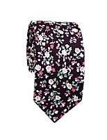 cheap -Men's Party / Work Cotton / Polyester Necktie - Floral / Color Block Daisy / All Seasons