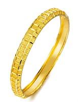 baratos -Mulheres Link / Corrente Bracelete - Chapeado Dourado Étnico Pulseiras Dourado Para Festa / Presente