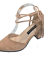 cheap -Women's Shoes Suede / PU(Polyurethane) Summer Basic Pump Heels Chunky Heel Coffee / Pink / Khaki / Party & Evening