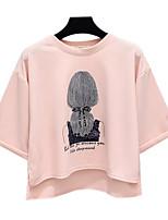 economico -T-shirt Per donna Per uscire Ritratto