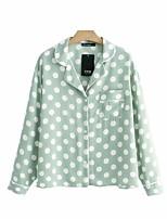 cheap -Women's Boho / Street chic Shirt - Polka Dot