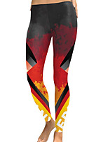 cheap -Women's Going out / Birthday Sporty / Basic Legging - Check Mid Waist