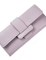 cheap -Women's Bags PU(Polyurethane) Wallet Buttons Purple / Light Green / Sky Blue