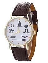 cheap -Xu™ Women's Dress Watch / Wrist Watch Chinese Creative / Casual Watch / Large Dial PU Band Fashion / Minimalist Black / White / Blue