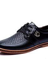 Недорогие -Муж. Лакированная кожа Лето Удобная обувь Туфли на шнуровке Черный / Коричневый / Для вечеринки / ужина