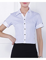 cheap -women's work cotton shirt - striped shirt collar