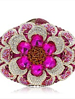 cheap -Women's Bags Alloy Evening Bag Flower Fuchsia