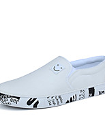 cheap -Men's Shoes Canvas Summer / Fall Comfort Loafers & Slip-Ons White / Black / Gray