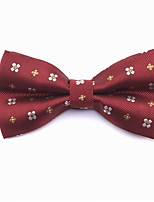 cheap -Men's Party / Basic Cotton / Polyester Bow Tie - Floral / Print / Color Block / All Seasons