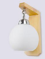 baratos -Novo Design Moderno / Contemporâneo Luminárias de parede Quarto / Banheiro Madeira / Bambu Luz de parede 220-240V 40 W