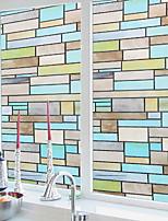 abordables -Film de fenêtre et autocollants Décoration Géométrique Géométrique PVC Antireflet