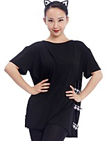 cheap -Latin Dance Tops Women's Training Modal Split Short Sleeve Top