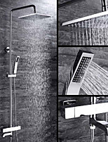 cheap -Shower Faucet - Contemporary Chrome Wall Installation Ceramic Valve