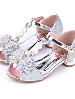 cheap -Girls' Shoes Sparkling Glitter Spring / Summer Comfort / Novelty / Flower Girl Shoes Sandals Rhinestone / Bowknot / Pearl for Gold / Silver / Pink / Peep Toe / Wedding