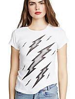 preiswerte -Damen Geometrisch - Grundlegend T-shirt