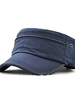 cheap -Men's Work / Basic Military Hat - Solid Colored