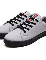 cheap -Men's Shoes Suede Fall Comfort Sneakers Black / Gray / Red
