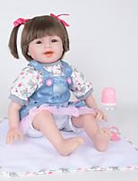 Недорогие -FeelWind Куклы реборн Девочки 22 дюймовый как живой, Естественный тон кожи Детские Девочки Подарок