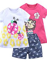 cheap -Toddler Girls' Print Short Sleeve Clothing Set