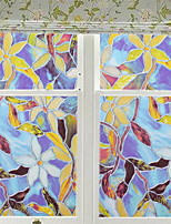 Недорогие -Оконная пленка и наклейки Украшение С цветами / С узором Цветочный принт ПВХ Антибликовая / Новый дизайн