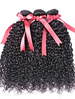 cheap -Brazilian Hair Curly Natural Color Hair Weaves / Human Hair Extensions 3 Bundles 8-28 inch Human Hair Weaves Capless Best Quality / Hot Sale / For Black Women Natural Black Human Hair Extensions