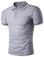 cheap -Men's Basic Polo - Solid Colored / Striped / Color Block Patchwork
