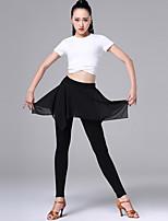abordables -Danse latine Tenue Femme Utilisation Modal Ruché Manches Courtes Taille moyenne Haut / Pantalon