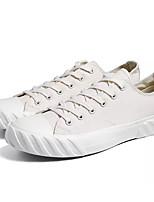 cheap -Men's Shoes Canvas / Fabric Summer Comfort Sneakers Black / Beige