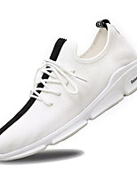 cheap -Men's Canvas / Elastic Fabric Summer Comfort Sneakers Color Block White / Black / White / Black / Red