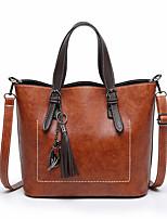 cheap -Women's Bags PU(Polyurethane) Tote Tassel Red / Gray / Brown