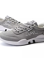 cheap -Men's Shoes Canvas Fall Comfort Sneakers Gray / Black / White / Black / Red