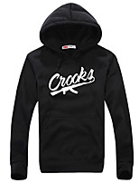 cheap -Men's Street chic Hoodie - Solid Colored / Letter