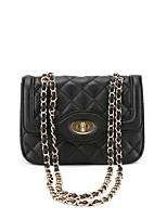 cheap -Women's Bags PU(Polyurethane) Shoulder Bag Buttons Black / Blushing Pink / Brown
