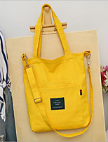cheap -Women's Bags Canvas Shoulder Bag Zipper Dark Blue / Gray / Yellow