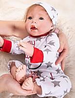 Недорогие -OtardDolls Куклы реборн Мальчики 20 дюймовый как живой, Искусственные имплантации Голубые глаза Детские Мальчики Подарок