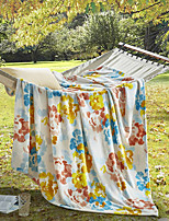 cheap -Coral fleece, Printed Floral Polyester / Polyamide Blankets