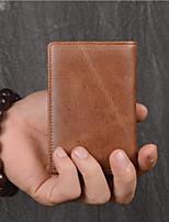 cheap -Unisex Bags Cowhide Wallet Zipper Black / Brown
