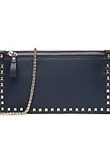 cheap -Women's Bags Nappa Leather Shoulder Bag Rivet / Zipper Blushing Pink / Dark Blue / Gray