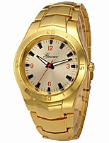 cheap -Men's Wrist Watch Chinese Casual Watch / Cool / Large Dial Stainless Steel Band Luxury / Bangle Silver / Gold