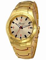 baratos -Homens Relógio de Pulso Chinês Relógio Casual / Legal / Mostrador Grande Aço Inoxidável Banda Luxo / Rígida Prata / Dourada